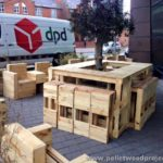 Pallet Outdoor Seating with Tree