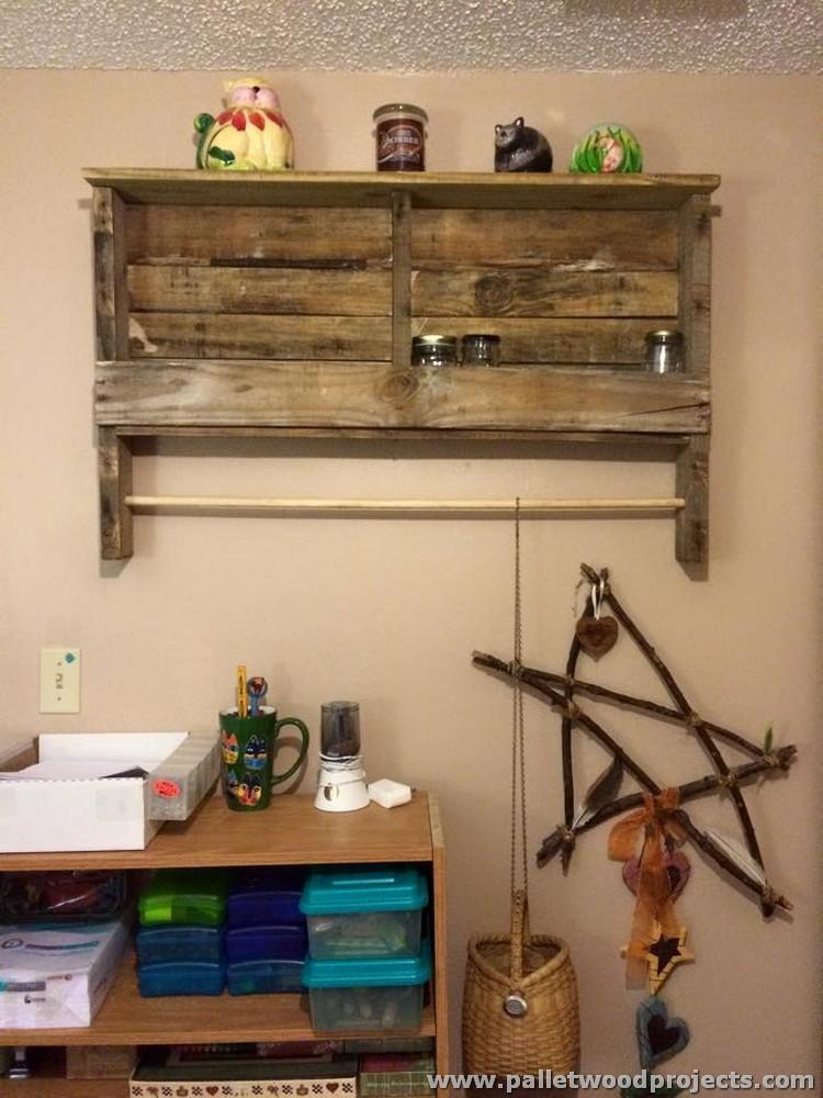 Pallet Shelf and Towel Rack