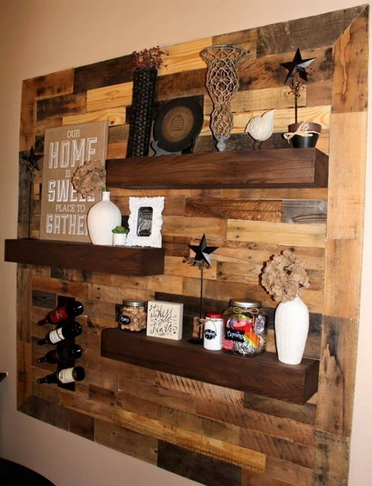 Ideas to reuse wooden pallets pallet wood projects for Wood craft shelves