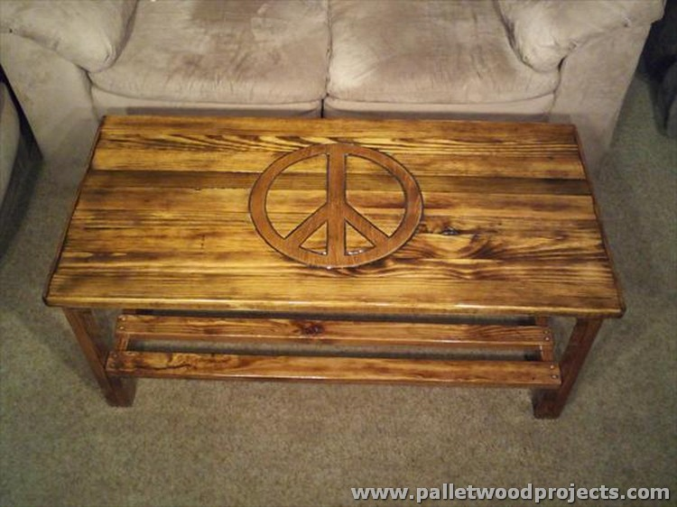 Peace Sign Pallet Table