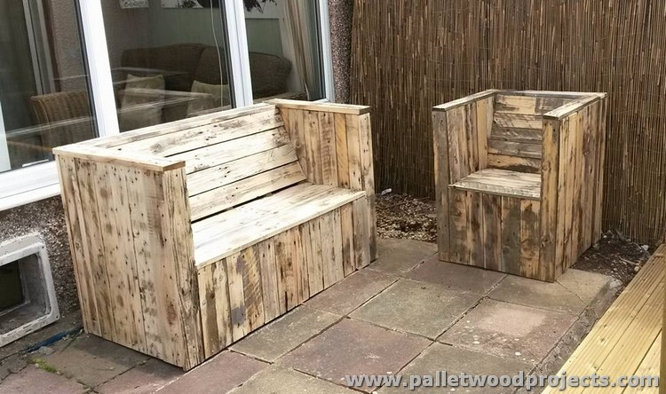 Outdoor Pallet Sofa Plans Wood Projects