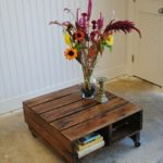 Rolling Pallet Table