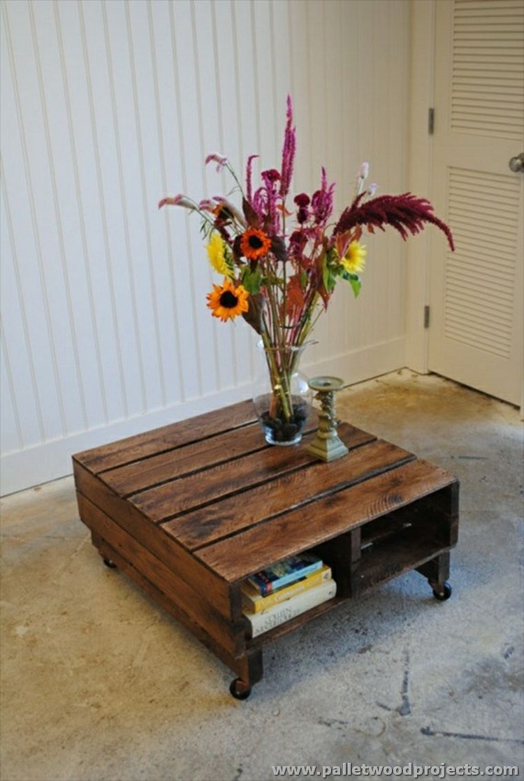 recycled wooden pallet tables pallet wood projects. Black Bedroom Furniture Sets. Home Design Ideas
