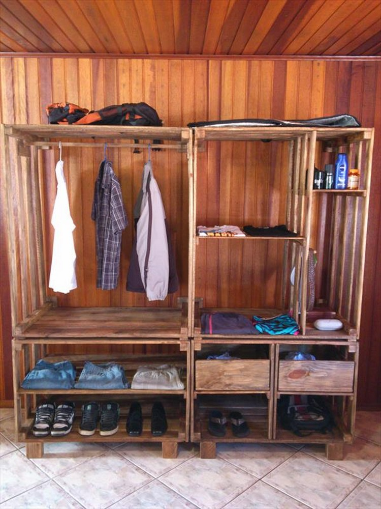 Wood Wardrobe Closet Plans ~ Wood pallet wardrobe ideas projects