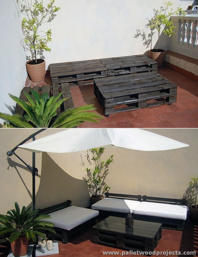 Patio projects with wooden pallets pallet wood projects - Decoracion patios exteriores ...