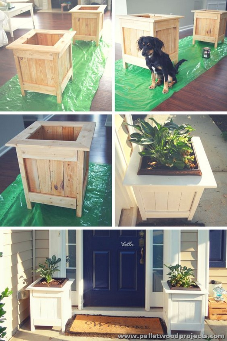 DIY Pallet Planter Box