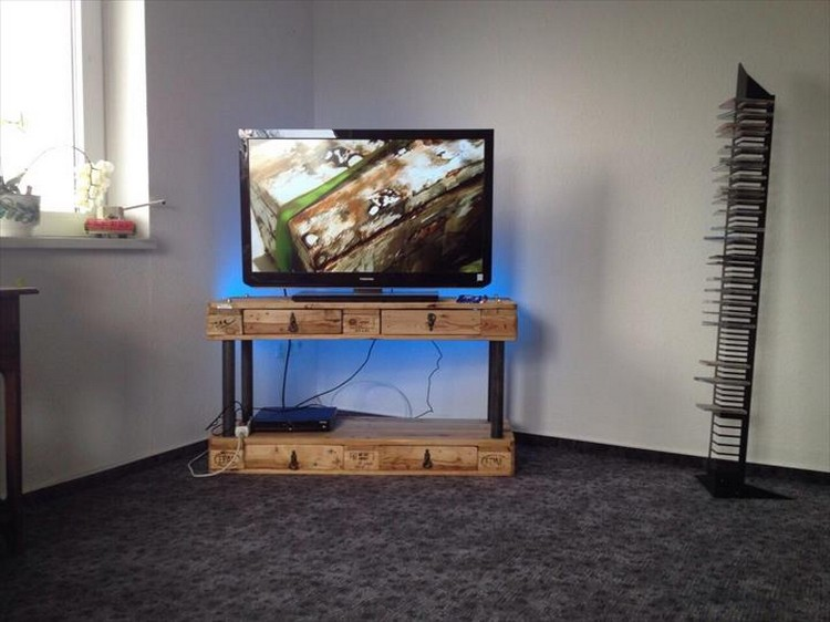 Pallet 2 Tiered TV Stand