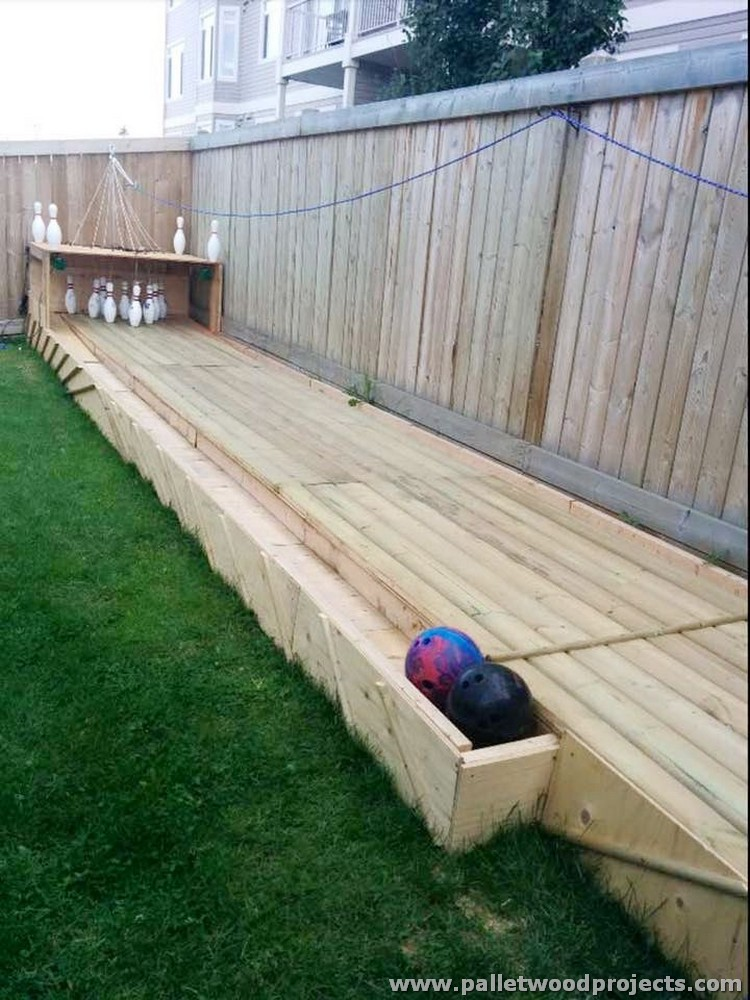 Pallet Bowling Alley