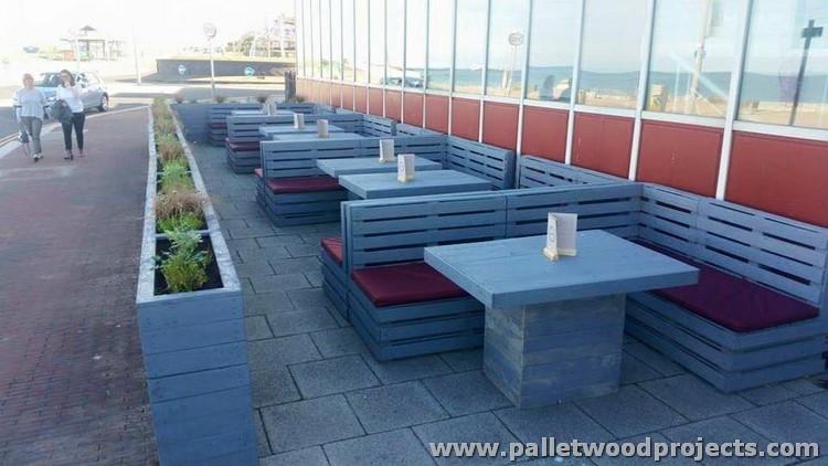 Pallet Furniture at Restaurant