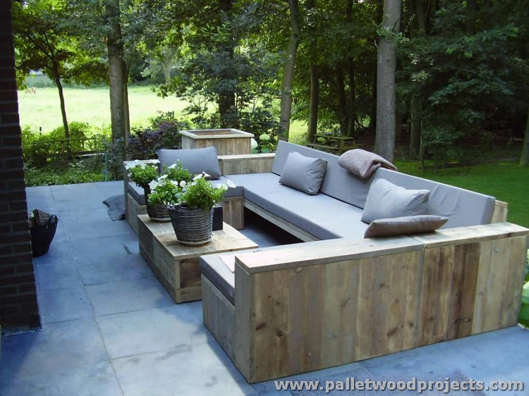 Pallet Garden Furniture Set. Inspired Pallet Furniture Ideas   Pallet Wood Projects