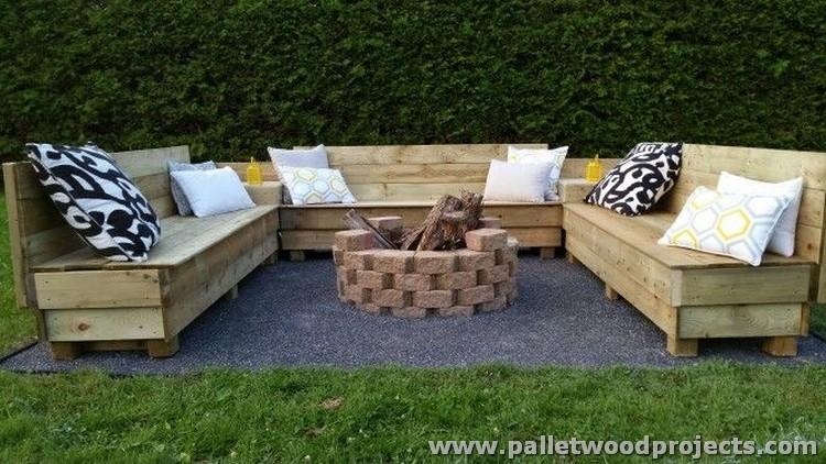 Pallet Garden Sitting Plan