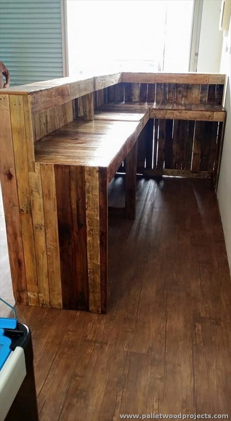 Pallet L Shaped Counter Desk