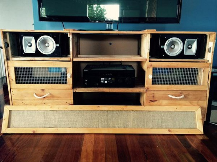 Pallet Media Cabinet and TV Stand