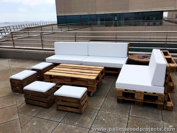 Recycled Pallet Patio Furniture Plans Pallet Wood Projects