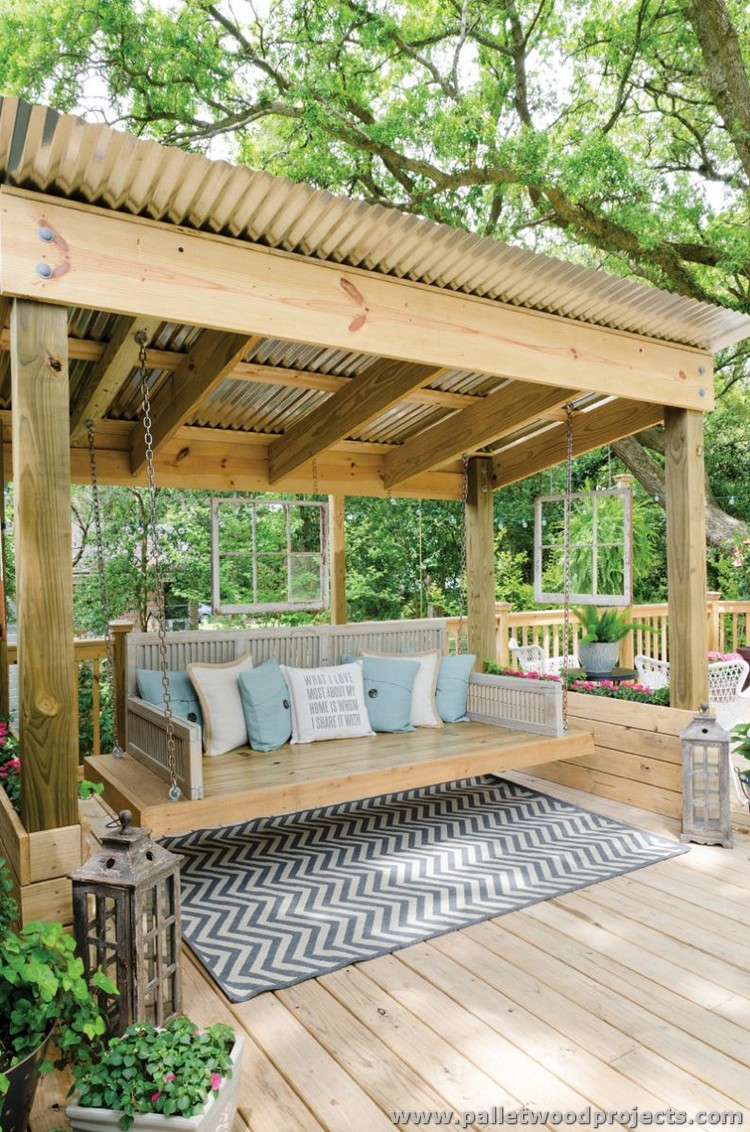 Gorgeous wooden pallet ideas pallet wood projects for Cool porch swings