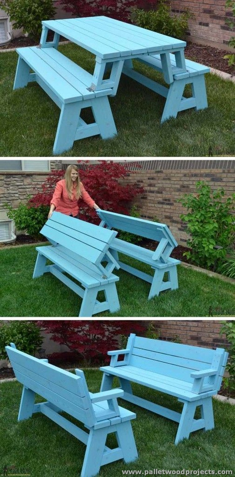 Pallet Picnic Table and Bench