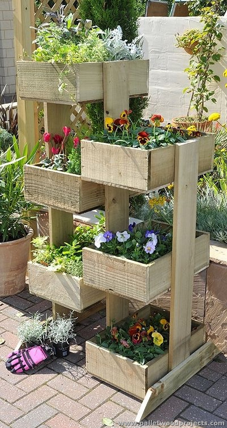 Pallet Planter Towers