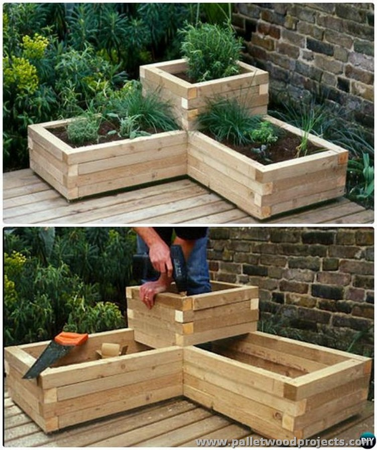 Upcycled wood pallet projects pallet wood projects for Garden planter ideas