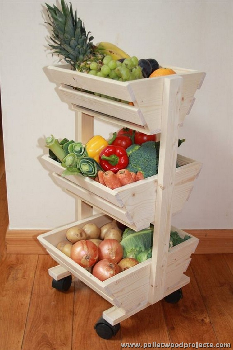 Pallet Vegetable Storage Rack