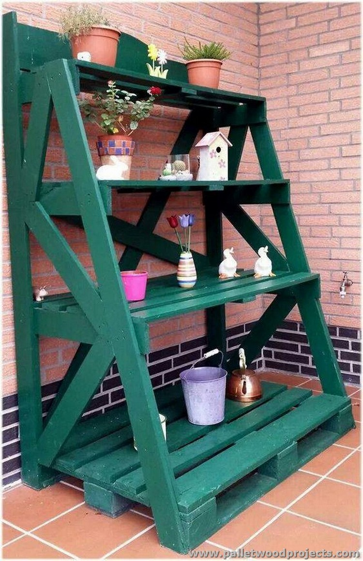 Pallet Wood Shelving