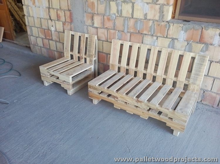 Recycled Pallet Couches
