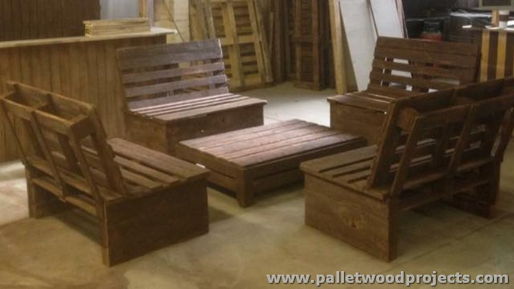 wood pallets and then we have finished this enchanting furniture ...