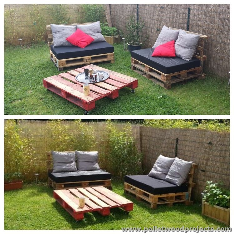 Cute pallet outdoor furniture ideas pallet wood projects for Meuble patio palette