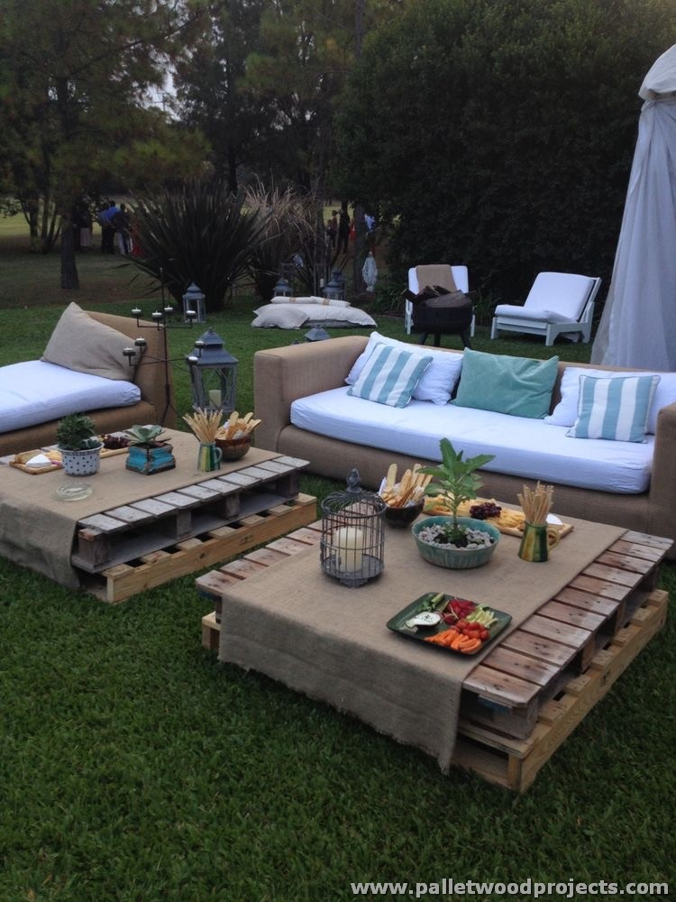 Recycled Pallet Tables