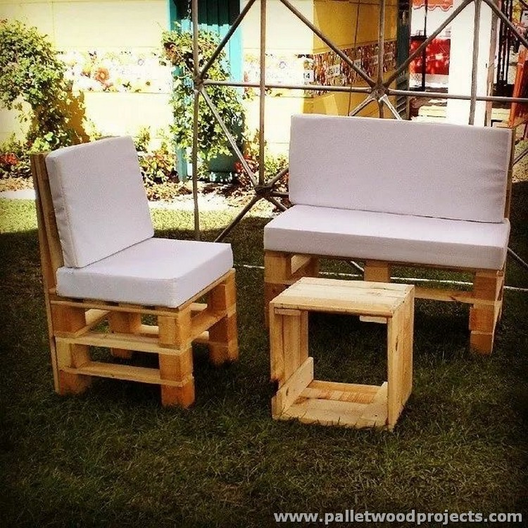 Pallet Garden Furniture Sets Pallet Wood Projects