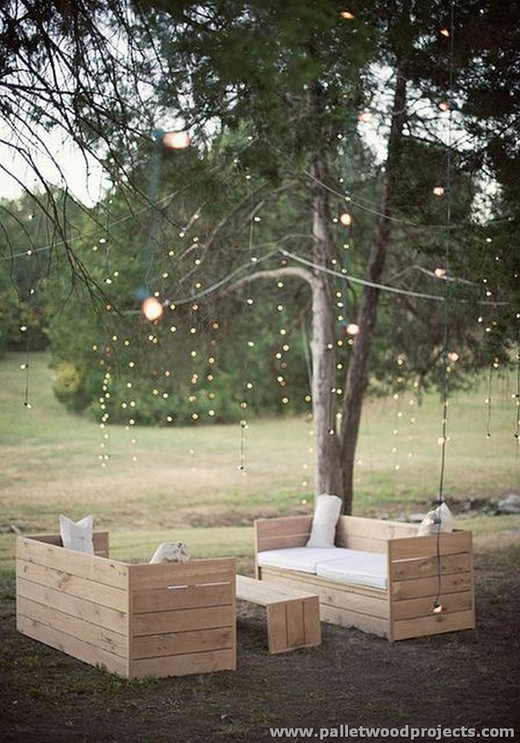 Inspired pallet furniture ideas pallet wood projects for Table jardin beauty