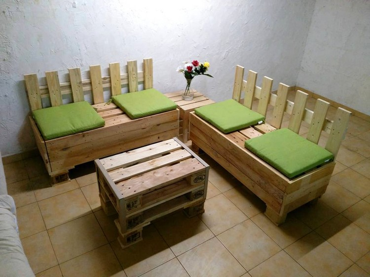 Pallet Corner Sofa Set