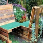 Pallet Double Chair Bench with Planters