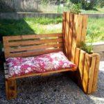Pallet Garden Bench with Planter
