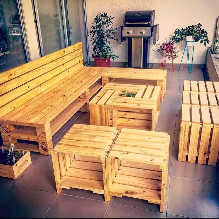 Incredible furniture ideas with wooden pallets pallet for Incredible handmade furniture ideas