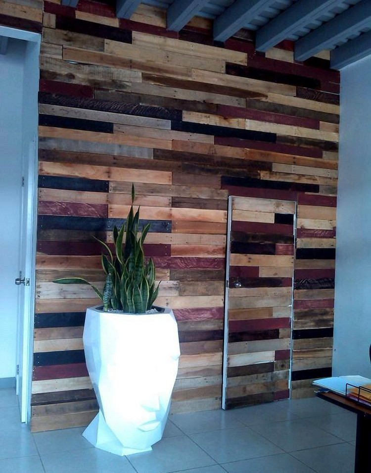 Inspired wood pallet creations for your home pallet wood for Door in the wall