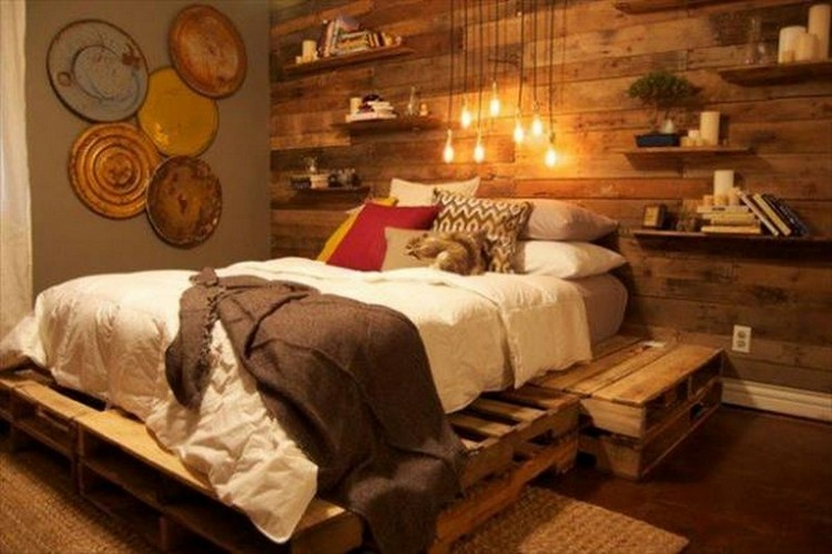 Pallet Wooden Bed