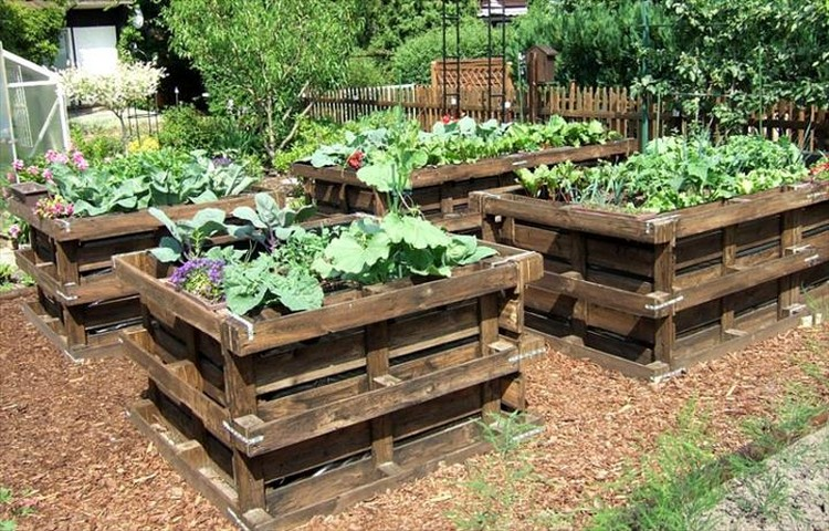 Pallet Raised Flower Beds