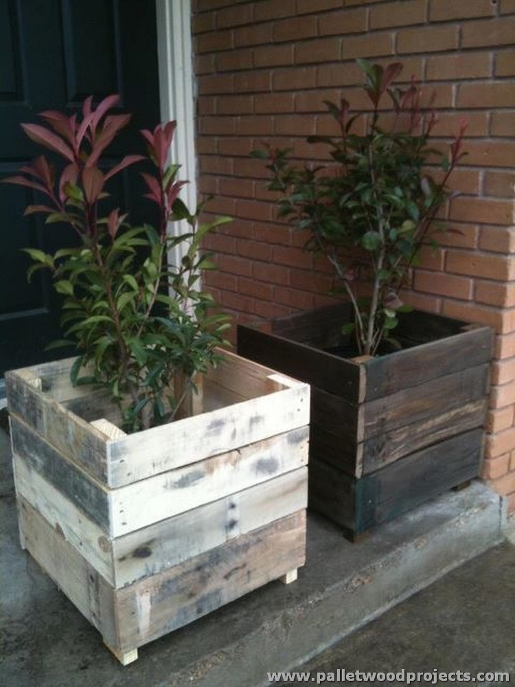 Pallet planter ideas pallet wood projects for Pallet ideas