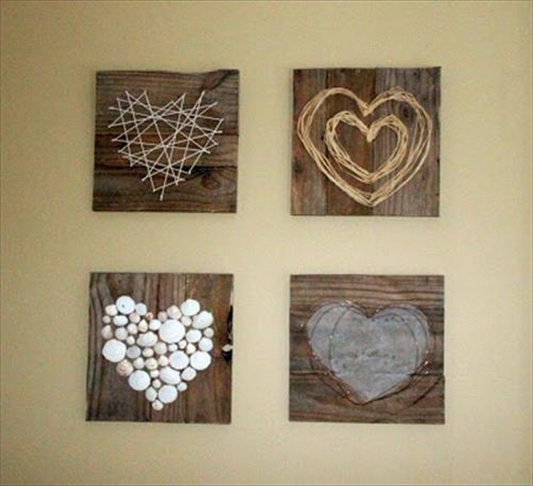 Arts And Crafts Wall Decor Ideas : Stunning pallet wall art ideas wood projects