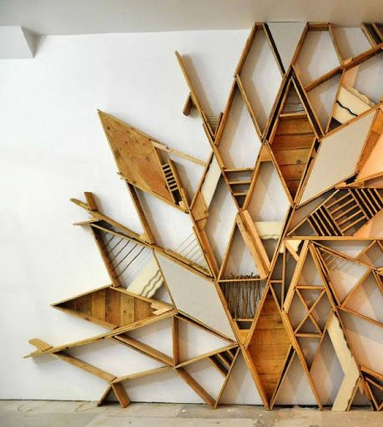 Stunning pallet wall art ideas pallet wood projects Cool wood shelf ideas