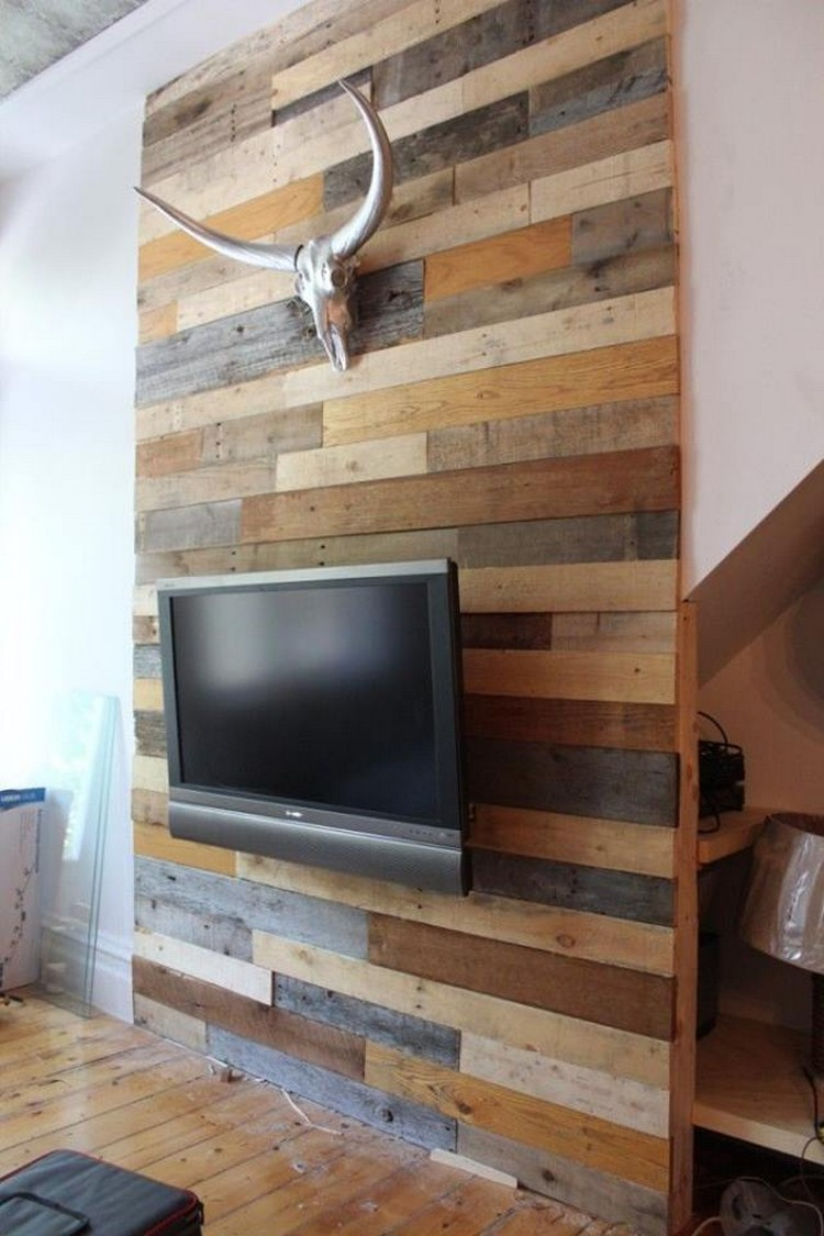 Plans to recycle wood pallets pallet wood projects for Bois decoration murale