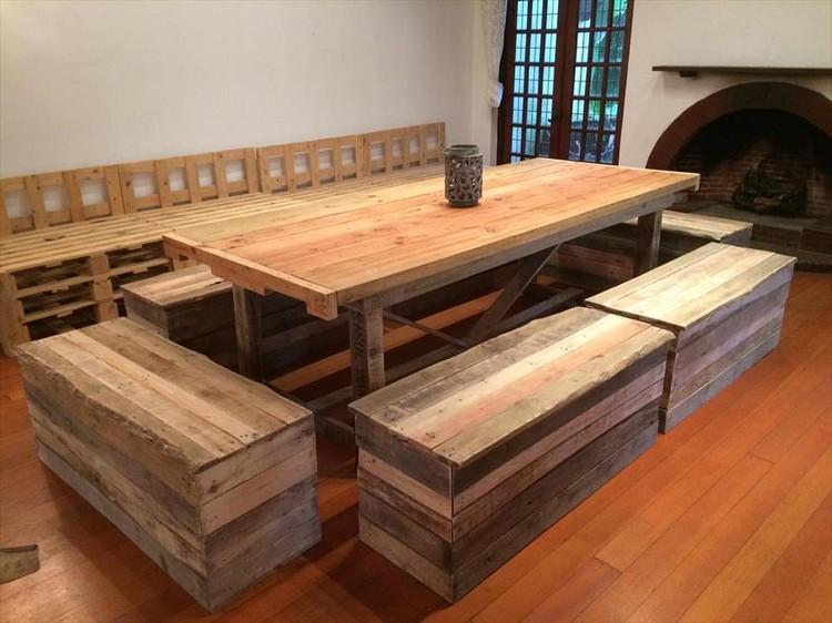 Wooden Pallet Dining Set