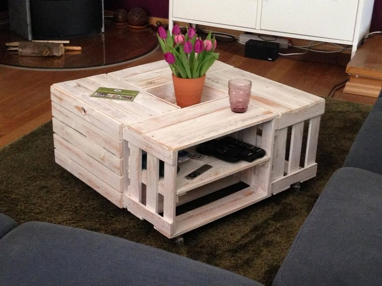 Wood Pallet Crate Table Ideas Pallet Wood Projects