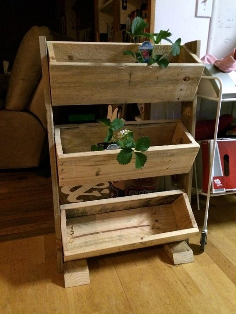 3 Pallet Boxes Planter