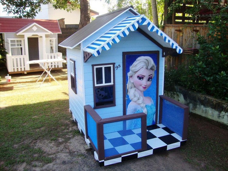 Barbie Pallet Playhouse for Kids