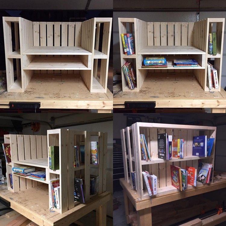 Pallet Chair with Book Storage