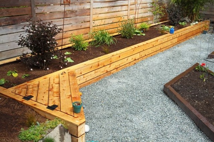 Raised Bed Against Fence Garden Inspiration