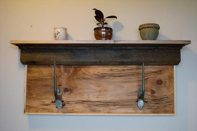 Pallet Shelf and Coat Rack