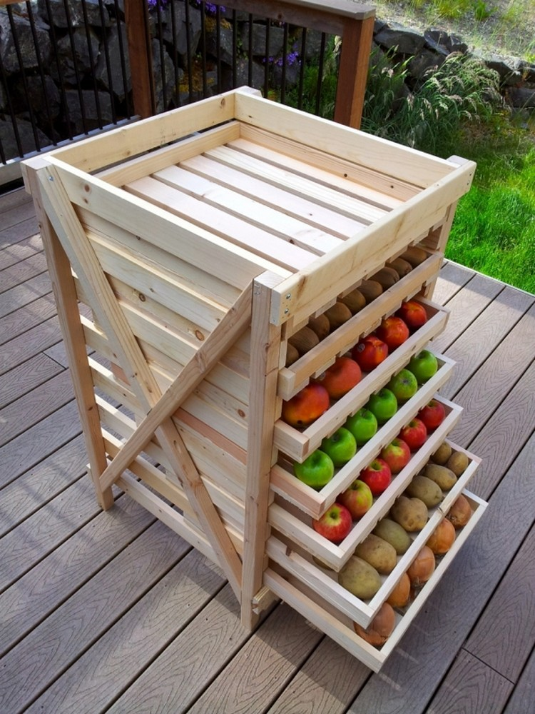 Pallet Vegetable Storage for Kitchen