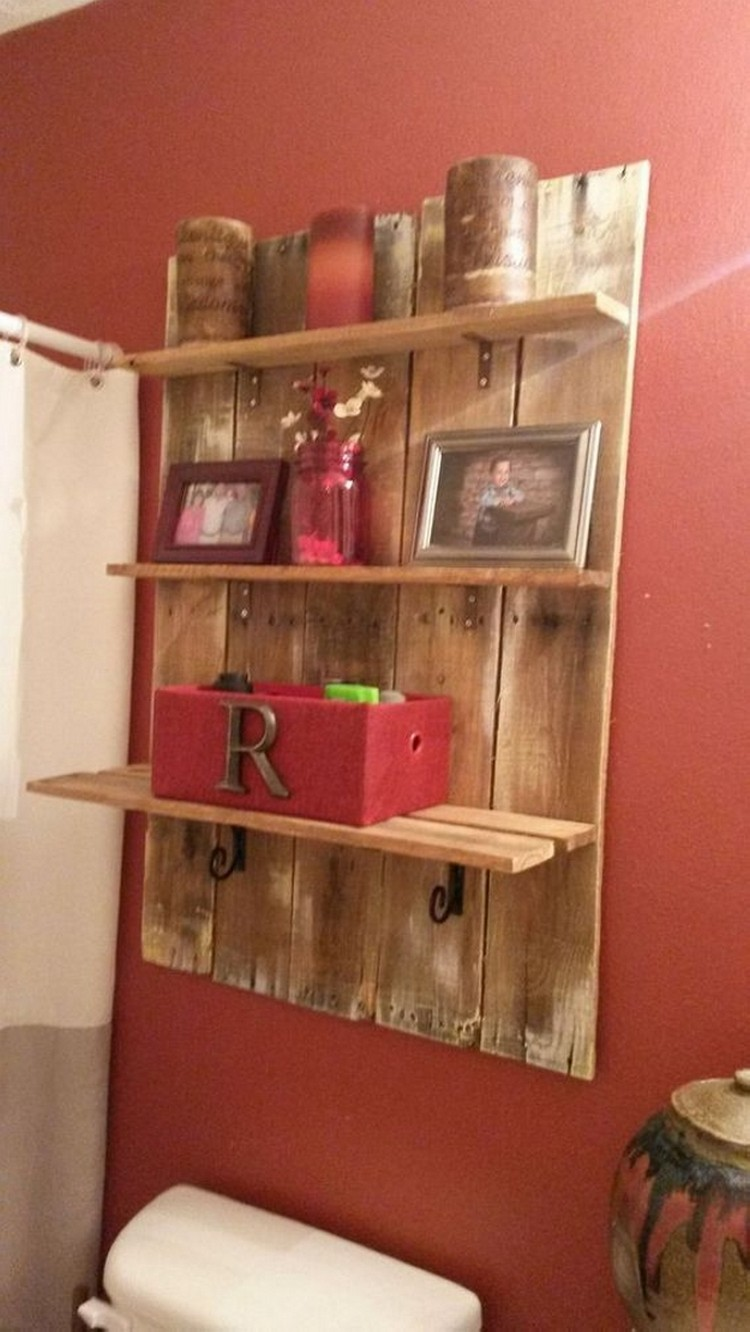 Simple Wooden Wall Shelves ~ Its easy to create wooden pallet shelves wood